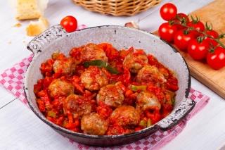 Albóndigas de pavo con verduras
