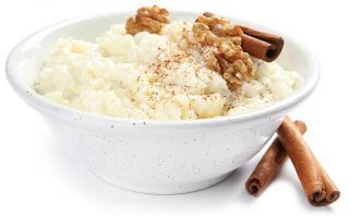 arroz con leche y nueces