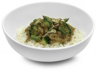 Arroz con brócoli al estilo oriental