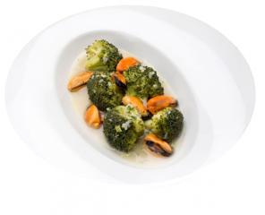 Brócoli con mejillones