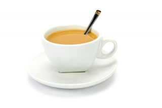 Café con leche desnatada (sin lactosa si eres intolerante)