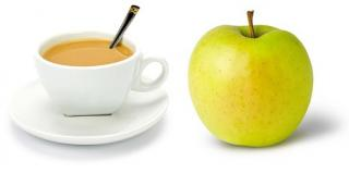cafe con leche + fruta