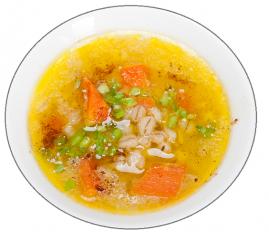 sopa de cebada con verduras
