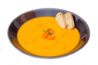 Crema de calabaza y zanahoria hipercalórica