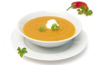 Crema de verduras hipercalórica