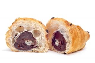 Croissant de chocolate (pieza mediana)