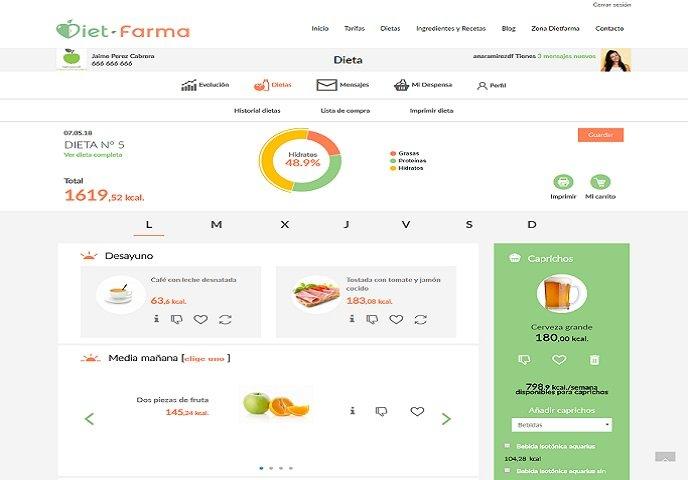 Generador de dietas online