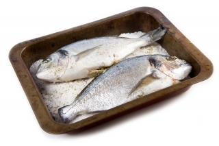 Dorada a la sal (en microondas)