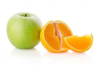 Dos piezas de fruta