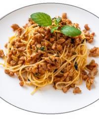 espaguetis con carne picada