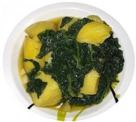 Espinacas con patatas