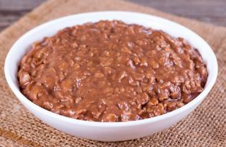 gachas de avena con cacao