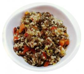 Lentejas vegetales con arroz