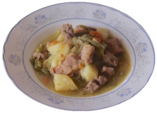 Guiso de ternera con judías verdes y patatas