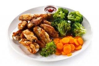 Jamoncitos de pollo al horno con brócoli