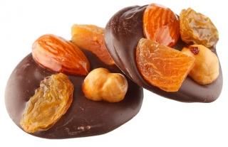 medallones de chocolate con frutos secos