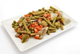 Menestra de verduras con pavo
