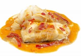 Merluza en salsa al horno