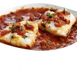 Merluza en salsa de tomate (en microondas)