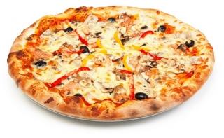 pizza de vegetales con masa integral