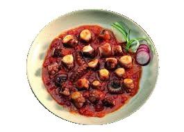 Pulpo con tomate