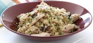 quinoa hervida con atun