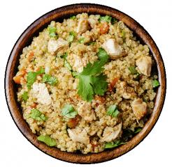 quinoa con pollo y espinacas