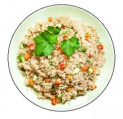 quinoa con verduras y ternera