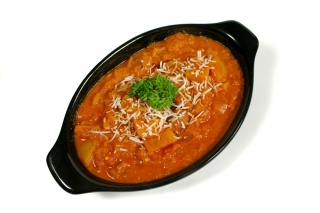Repollo con tomate (en microondas)