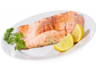 Salmón al horno con limón