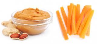 tiras de cacahuetes con zanahoria