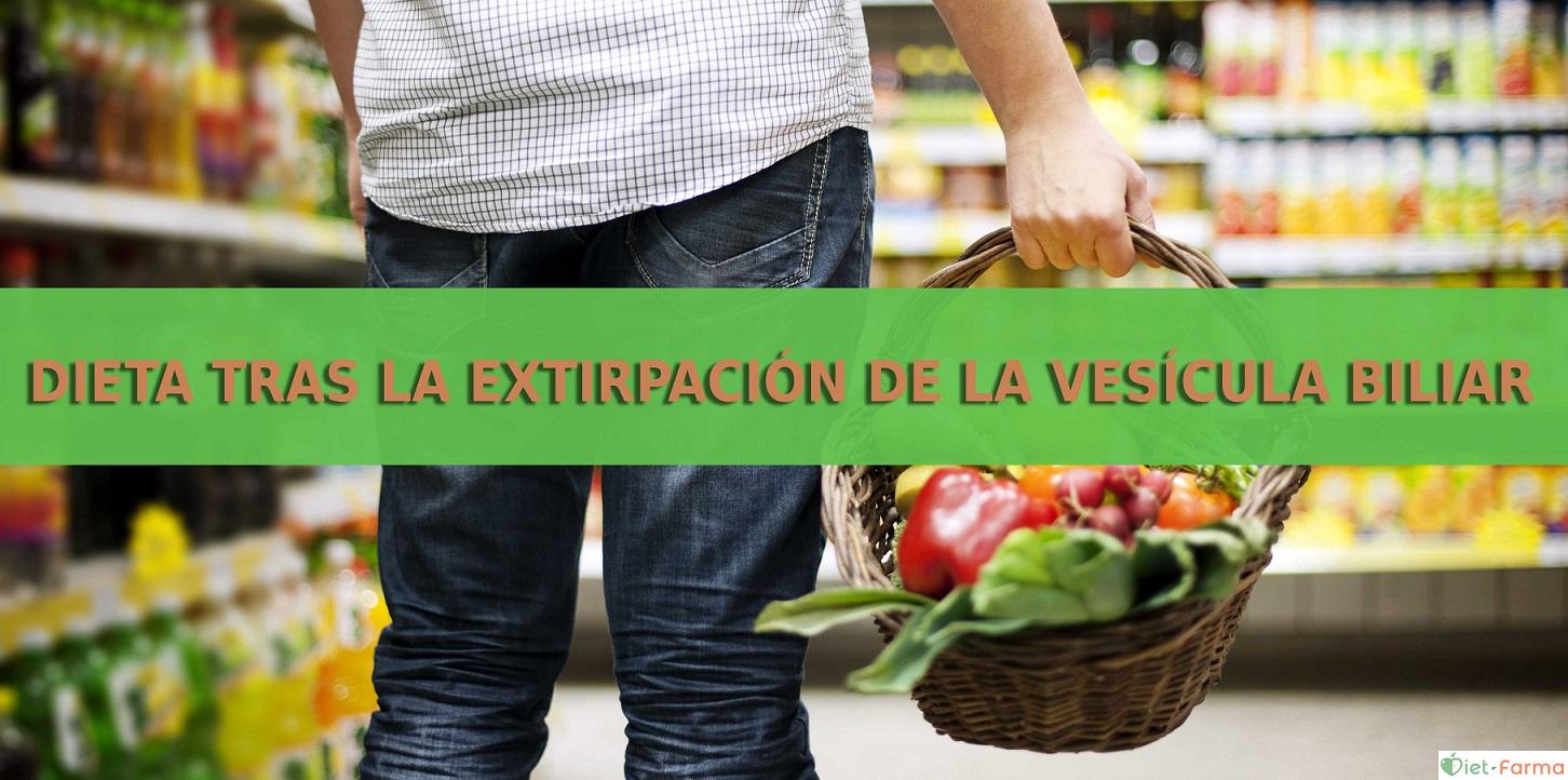 dieta tras la extirpación de la vesícula biliar
