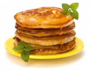 tortitas con miel y crema de frutos secos