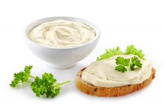 Pan tostado integral con crema de queso light